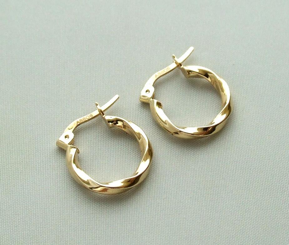 Geel gouden oorbellen