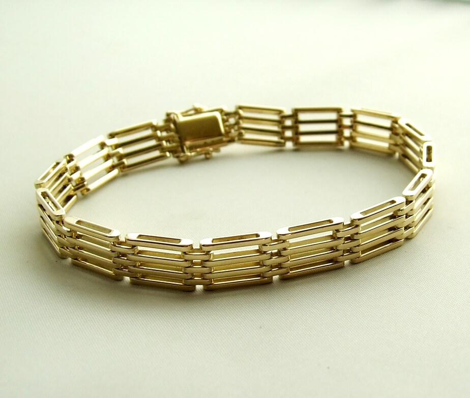 Geel gouden occasion armband