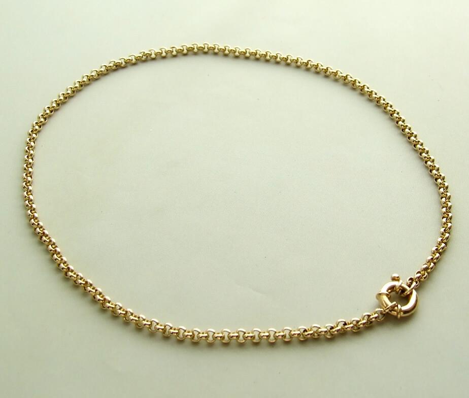 Christian geel gouden jasseron collier