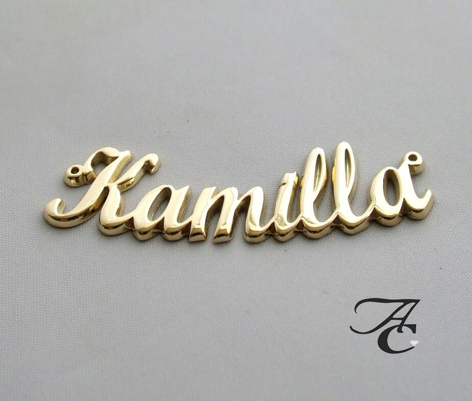 Gouden naamplaat