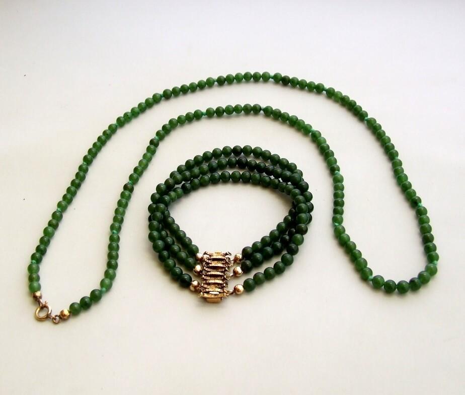 Armband en collier jade en nefriet
