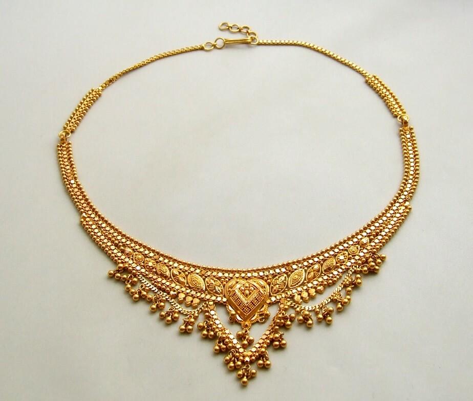 21 karaat geel gouden collier