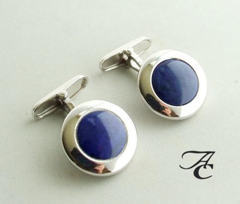 Gouden manchetknopen met lapis lazuli