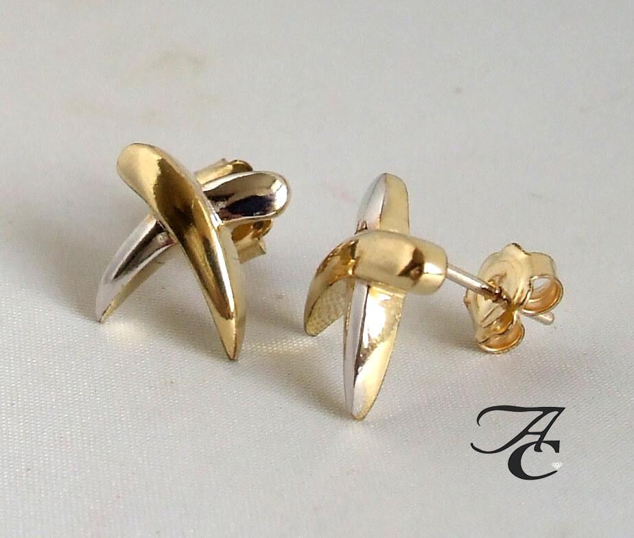 Atelier Christian geel gouden oorbellen