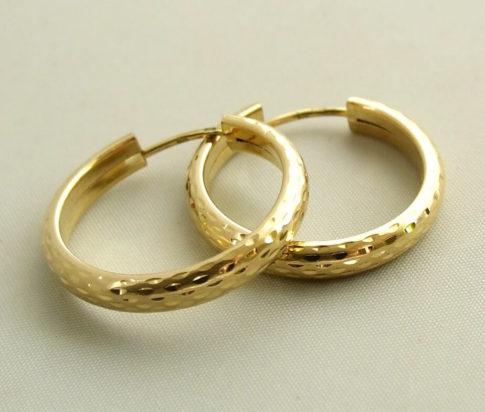 Gouden oorbellen occasion