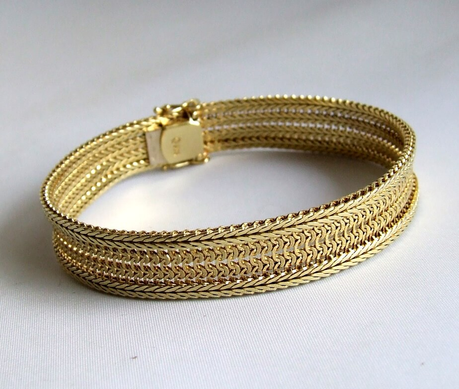 Occasion geel gouden armband