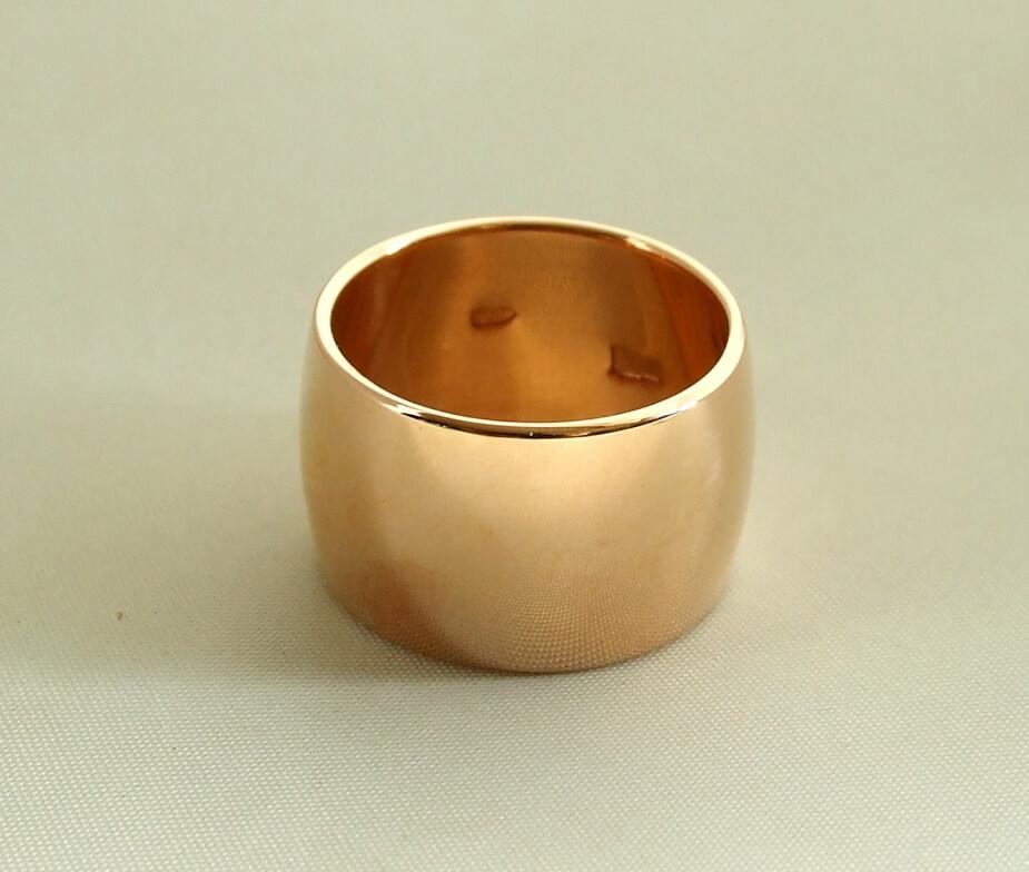 Rosé gouden duimring