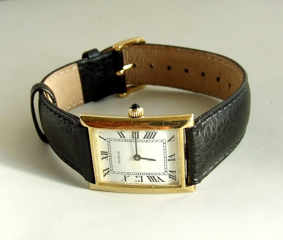 Gouden horloge Monté