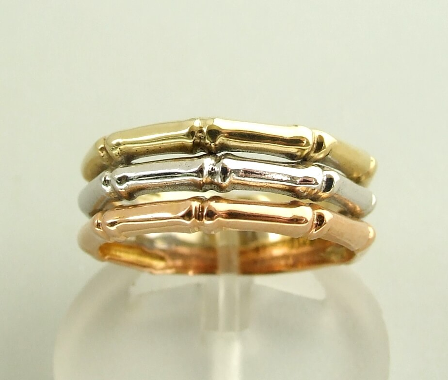 Christian gouden tricolor ring