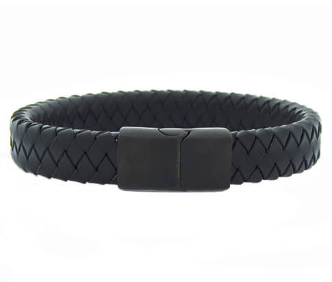 Christian Black Leather Black Clasp