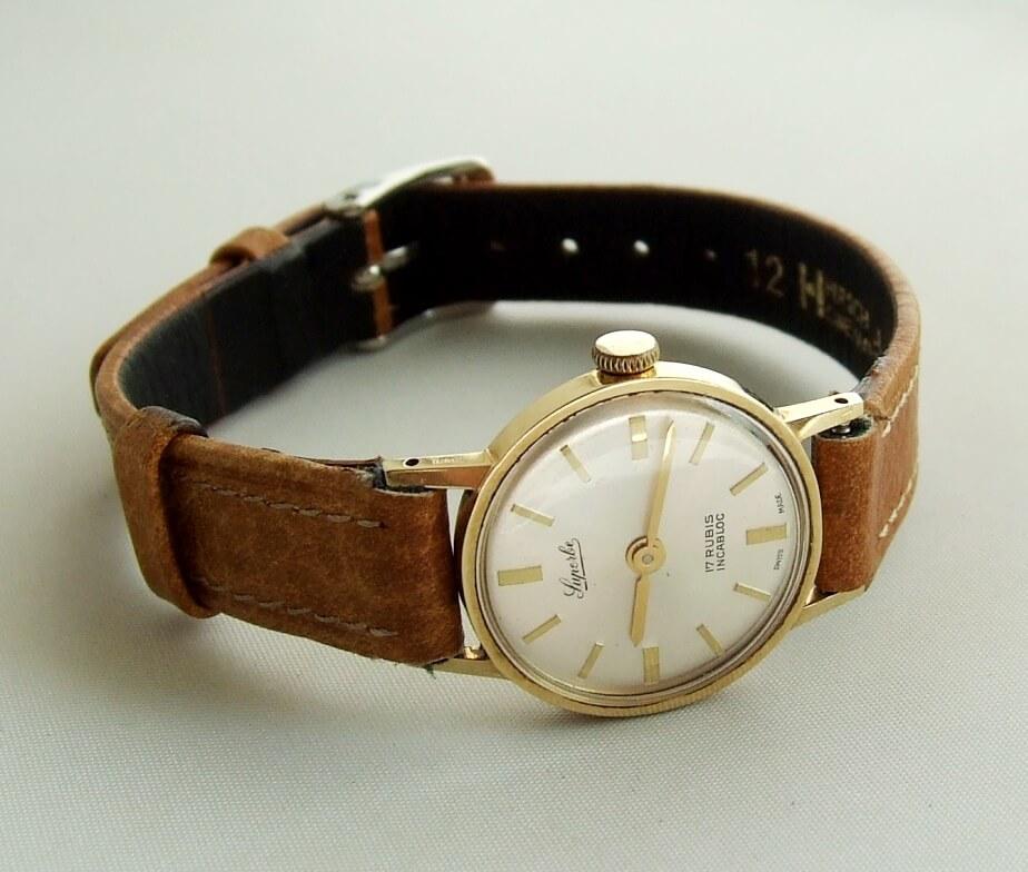 Geel gouden Luperbe horloge