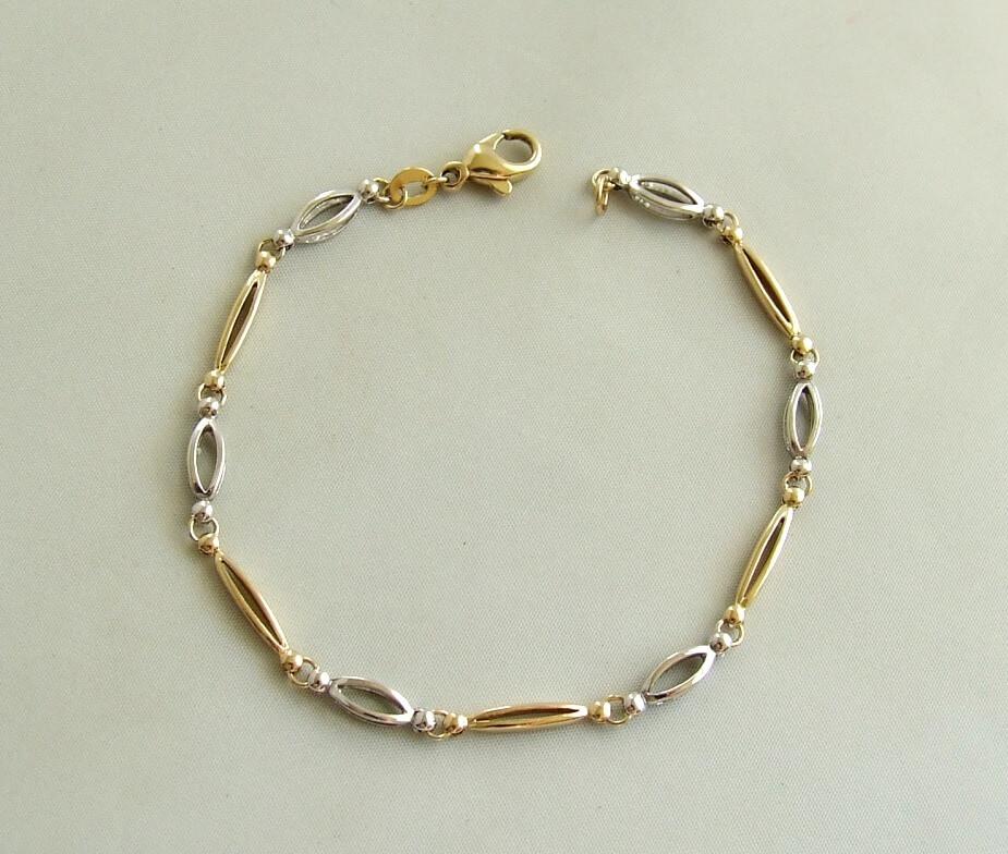 Gouden bicolor armband