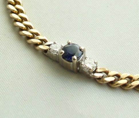 Gouden armband met saffier en briljanten