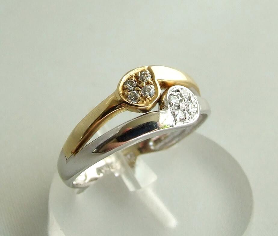 Christian bicolor ring met zirkonia