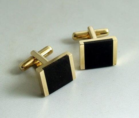 Christian gouden manchetknopen met onyx