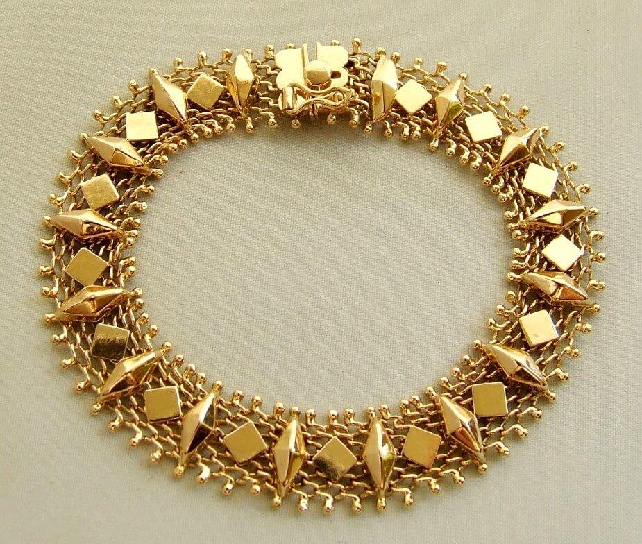 18 karaat geel gouden armband