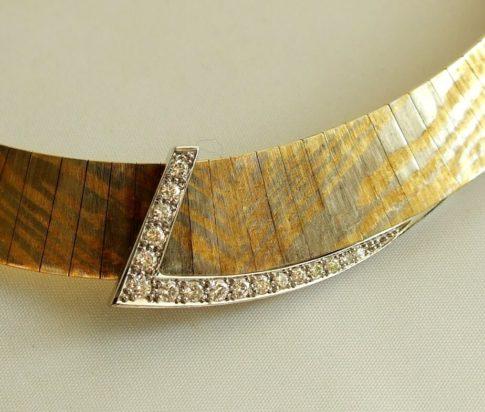 18 karaat gouden collier met diamanten