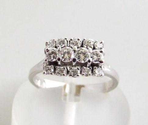 14 karaat wit gouden occasion ring met diamanten
