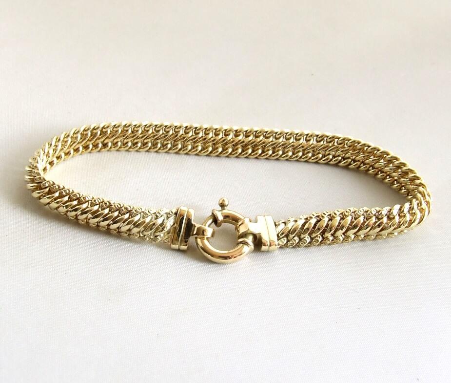 14 karaat occasion geel gouden armband