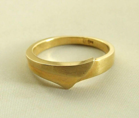 14 karaat geel gouden ring