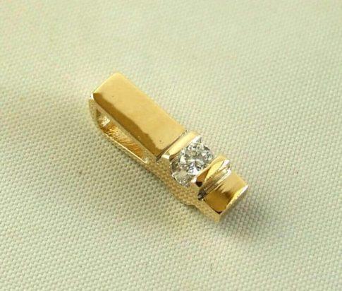 Geel- en wit gouden hanger met diamant