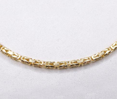 14 karaat geel gouden koningscollier