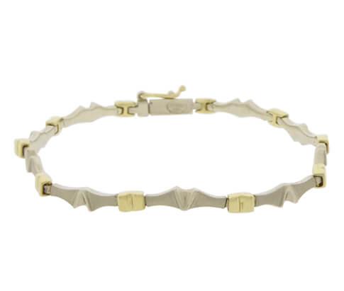 Bicolor Christian armband