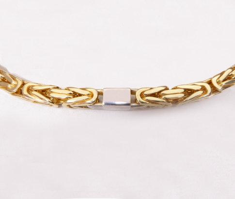 Bicolor gouden koningsketting