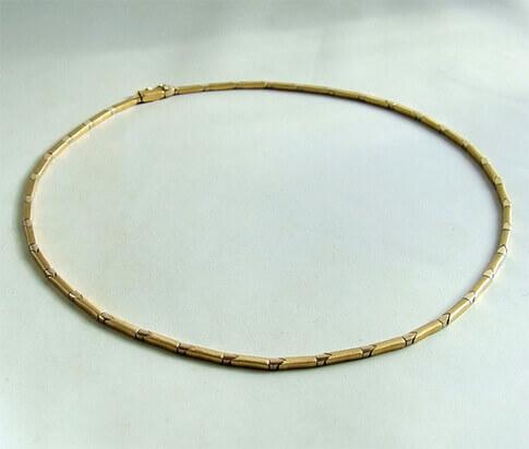 Christian bicolor gouden collier
