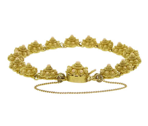Gouden armband Zeeuwse knoop