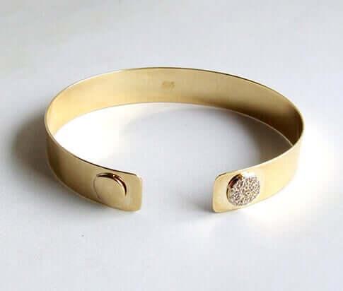 Gouden armband met zirkonia