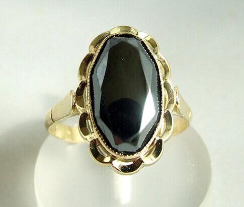 Gouden hematiet ring