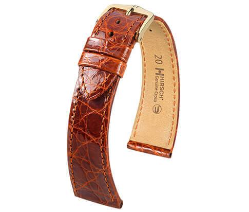 Hirsch horlogeband C24 189008 189208 Genuine Croco