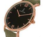 Kapten en Son horloge Black Olive Canvas Campus 4251145223762