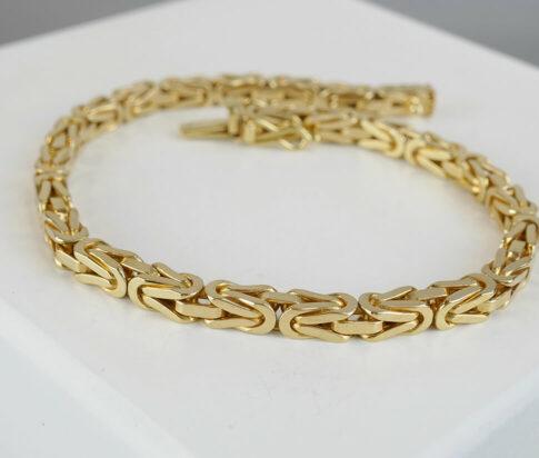 14 karaat Christian gouden koningsschakel armband