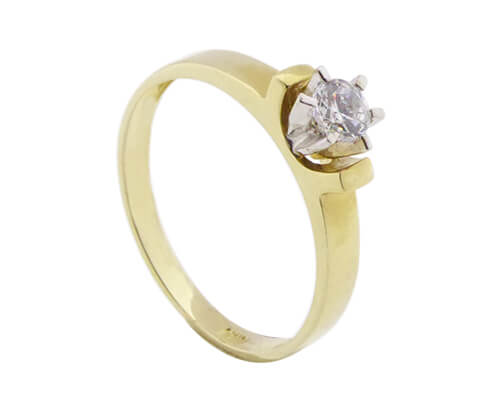 a4ac90e4c5c 14 karaat bicolor zirkonia ring kopen kopen? Gouden ring | Christian ✅