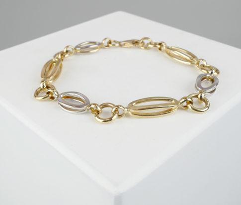 14 karaat gouden bicolor armband
