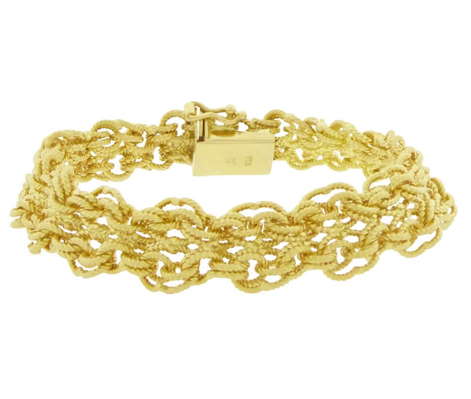 gouden slavenarmband hol
