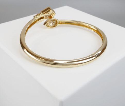 18 karaat gouden citrien en diamant armband