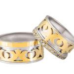 Bicolor Oosters model trouwringen