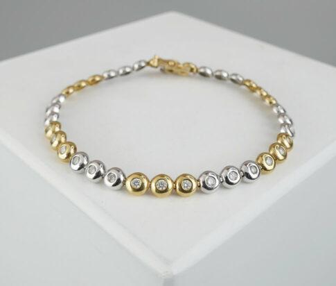 Bicolor tennisarmband met diamanten