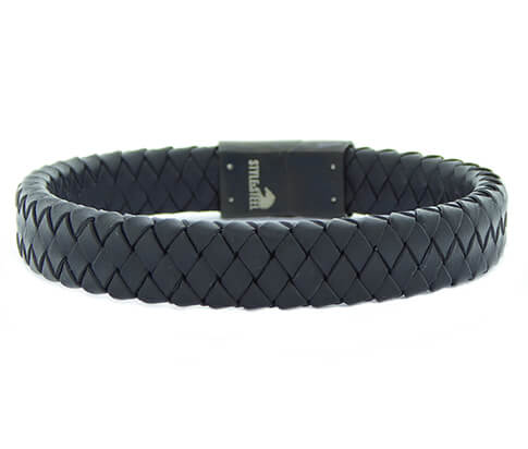 Christian Black Leather Black Clasp
