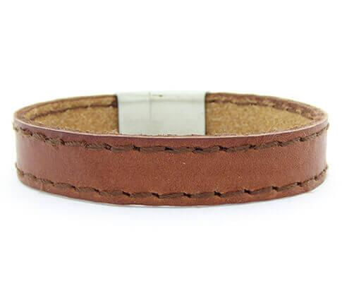 Christian Leather Brown Bracelet