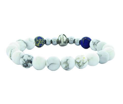 Christian White Beads Bracelet