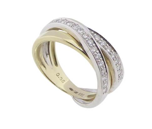 Christian bicolor gouden ring met briljanten