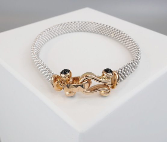 Christian wit gouden armband