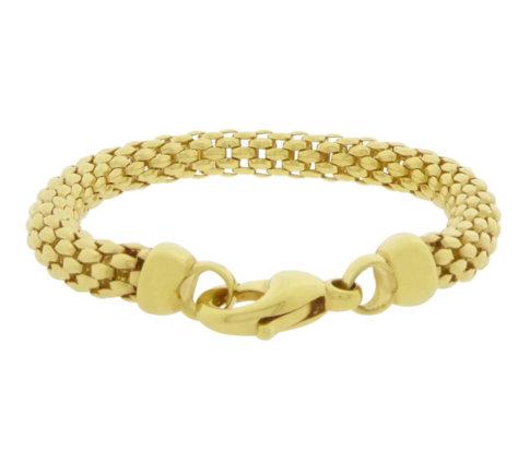 Geel gouden Christian schakelarmband