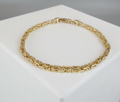 Geel gouden koning armband