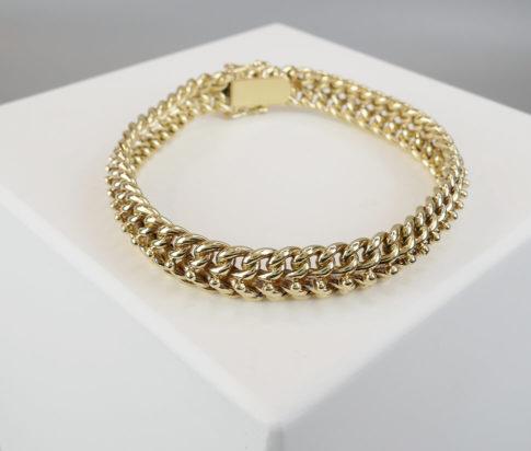 Gouden gevlochten armband