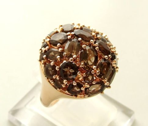 Rose gouden ring met granaat